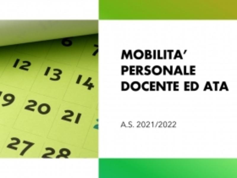 Ordinanza mobilità Personale docente educativo ed ATA e Docenti di religione cattolica a.s. 2021-20 [..]